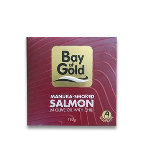 Bay of Gold Manuka-Smoked Salmon in Olive Oil with Chili