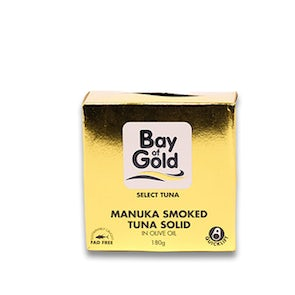 Bay of Gold Manuka-Smoked Tuna Solid in Olive Oil