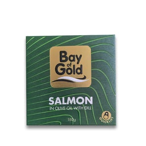 Bay of Gold Salmon in Olive Oil with Dill