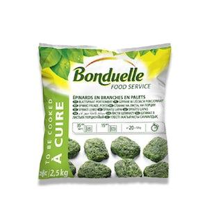 Bonduelle Spinach Leaf Portions (Frozen)