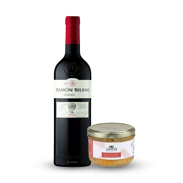 Picture 1 - Lafitte Pate with Espelette Pepper & Ramón Bilbao Rioja Crianza