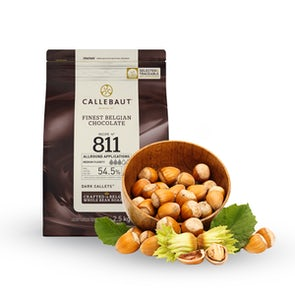 Callebaut No. 811 Callets Dark Couverture and Fresh Hazelnuts from France