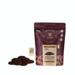 Auro 100% Cacao Unsweetened Chocolate Tablea Coins