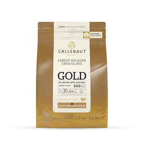 Callebaut Gold Callets White Chocolate with Caramel