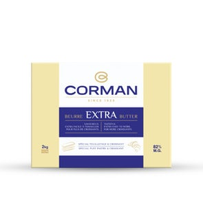 Corman Extra Dry Butter Sheet 82% Fat (Pastry & Croissant)