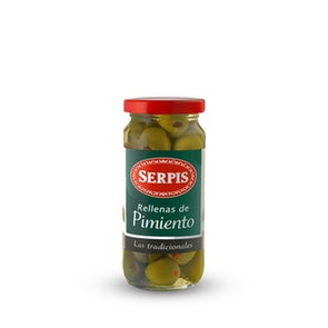 Serpis Green Olives Stuffed With Pimiento Red Pepper