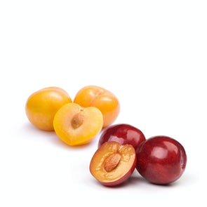 Fresh Yellow and Red Plums (Prunes from France)