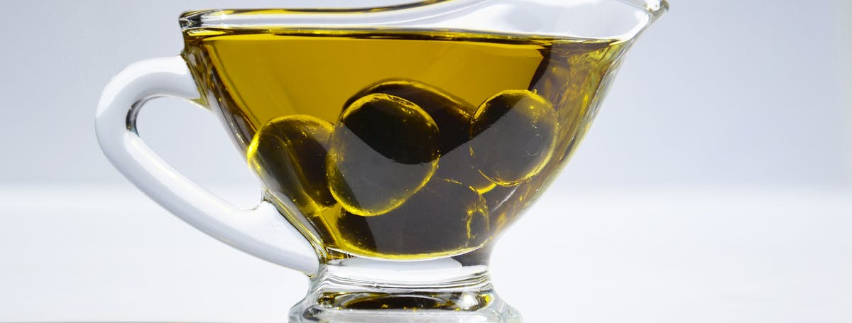 Olive Oil in Glass